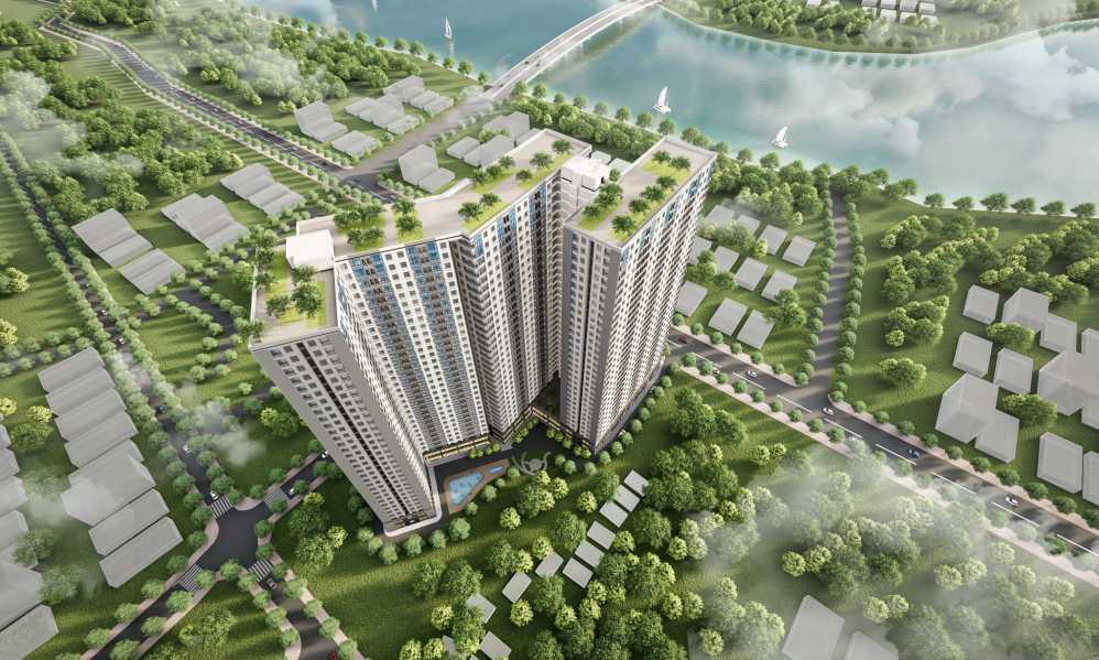 Phối cảnh nhìn từ trên cao tại dự án Tecco Tân Vạn Biên Hoà
